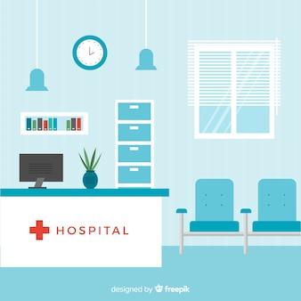 Composição de recepção hospitalar moderna