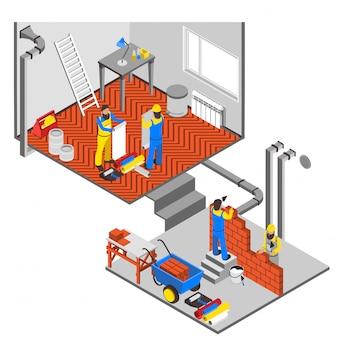 Composição de reparos interiores