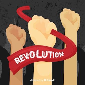 Composição de revolução clássica com design plano