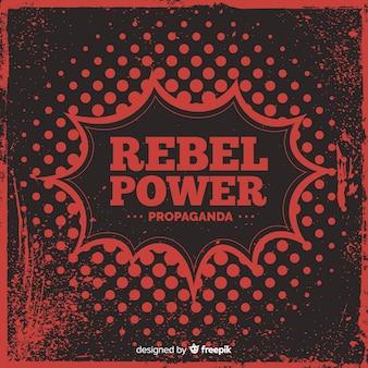 Composição de revolução clássica com estilo grunge