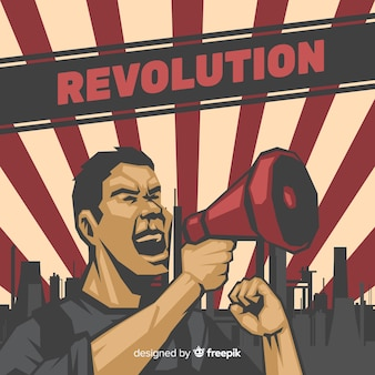 Composição de revolução clássica com estilo vintage
