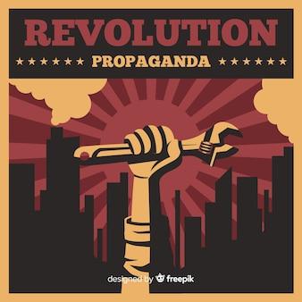 Composição de revolução clássica com punho
