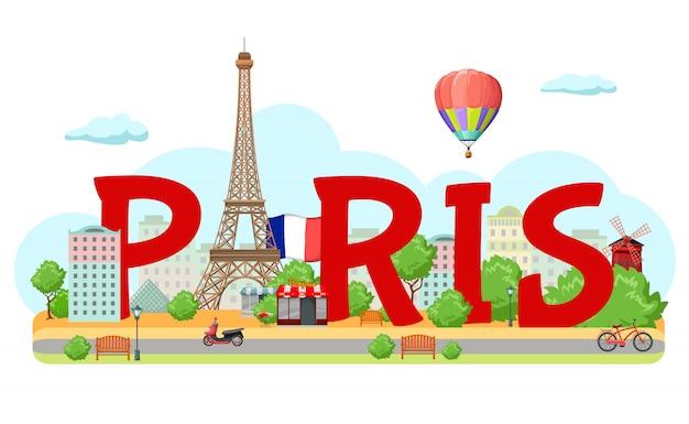 Composição de sinal de cidade de paris