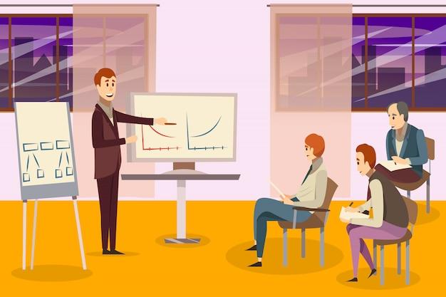 Composição de treinamento de negócios