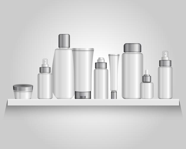 Composição de tubos de embalagens de cosméticos