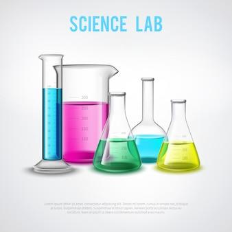 Composição de vasos científicos
