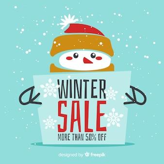 Composição de venda de inverno adorável