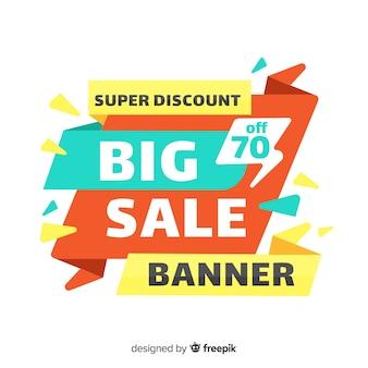 Composição de venda grande colorido com design plano