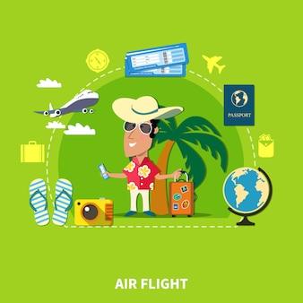 Composição de viagens de cruzeiro tropical