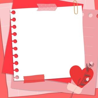 Composição do álbum de recortes com papel de notas