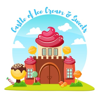 Composição do castelo de sorvete