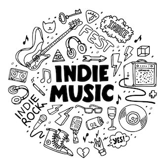 Composição do círculo de rock indie