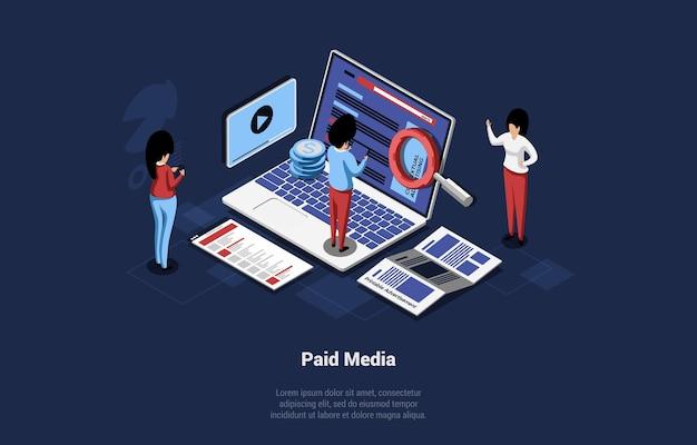 Composição do conceito de mídia paga
