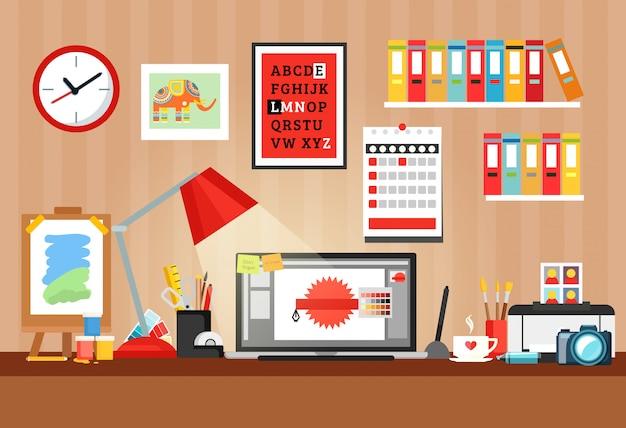 Composição do designer workplace