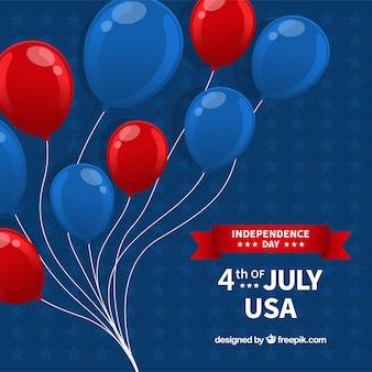 Composição do dia da independência dos eua com balões 2d