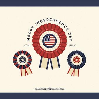 Composição do dia da independência dos eua com estilo vintage