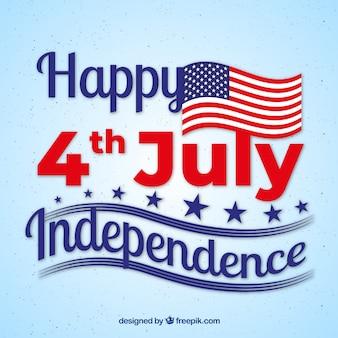 Composição do dia da independência dos eua com letras agradáveis
