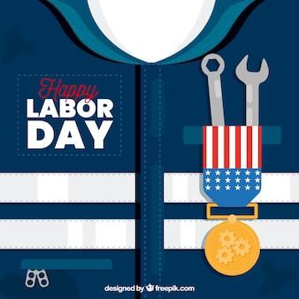 Composição do dia do trabalho americano com design plano
