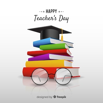 Composição do dia dos professores do mundo com design realista