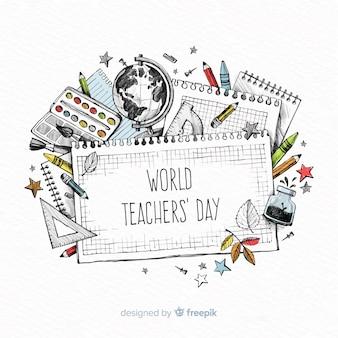 Composição do dia dos professores do mundo