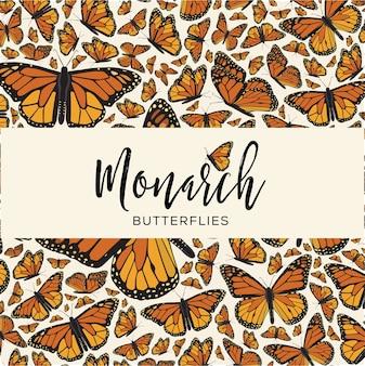 Composição do espaço de cópia das borboletas monarca