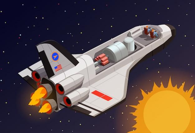 Composição do espaço sideral da nave espacial