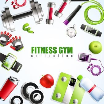 Composição do ginásio de fitness