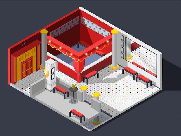 Composição do hall de teatro