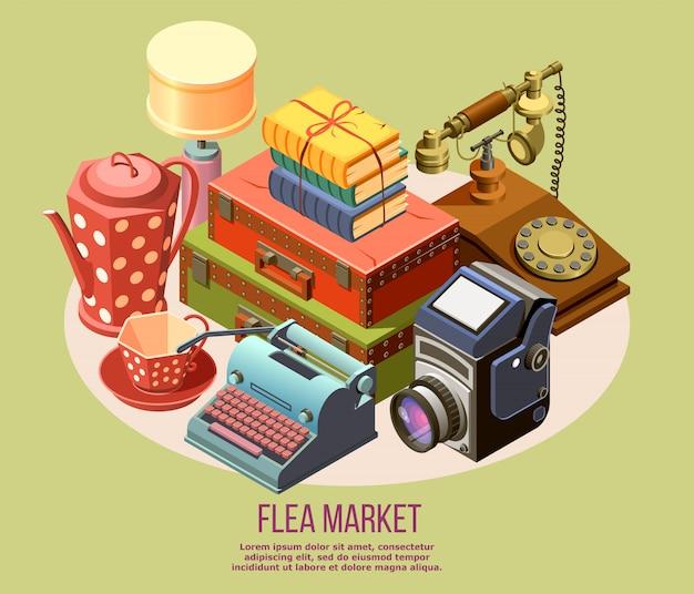 Composição do mercado de pulgas