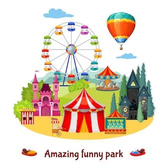 Composição do parque de diversões