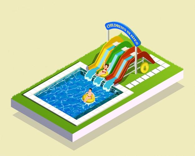 Composição do parque do jogo da água