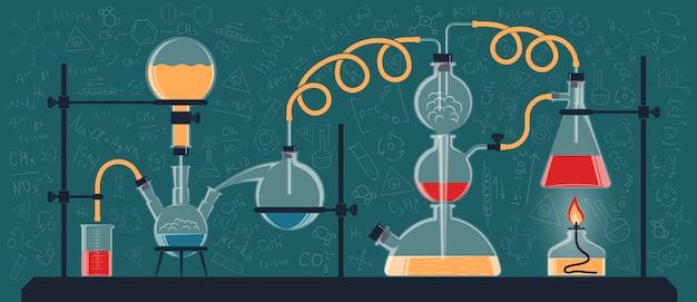 Composição dos frascos e dispositivos químicos