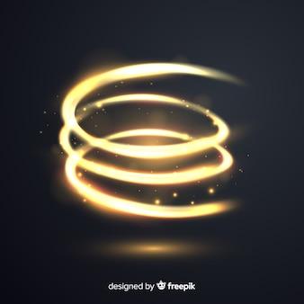 Composição elegante com raios de luz