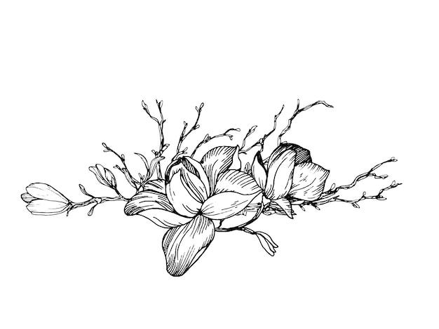 Composição em estilo de gravura