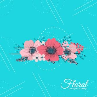 Composição floral com flor colorida.
