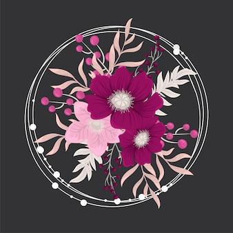 Composição floral com flores.