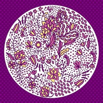 Composição floral redonda
