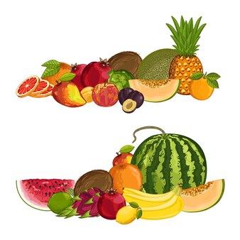 Composição isolada de frutas orgânicas frescas