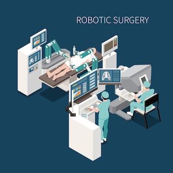 Composição isométrica de cirurgia robótica com operação inovadora