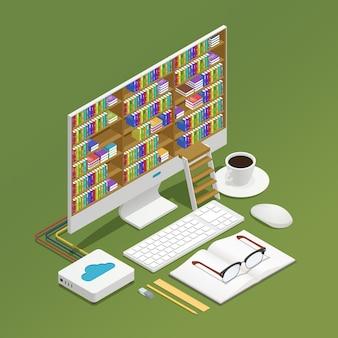 Composição isométrica de e-learning