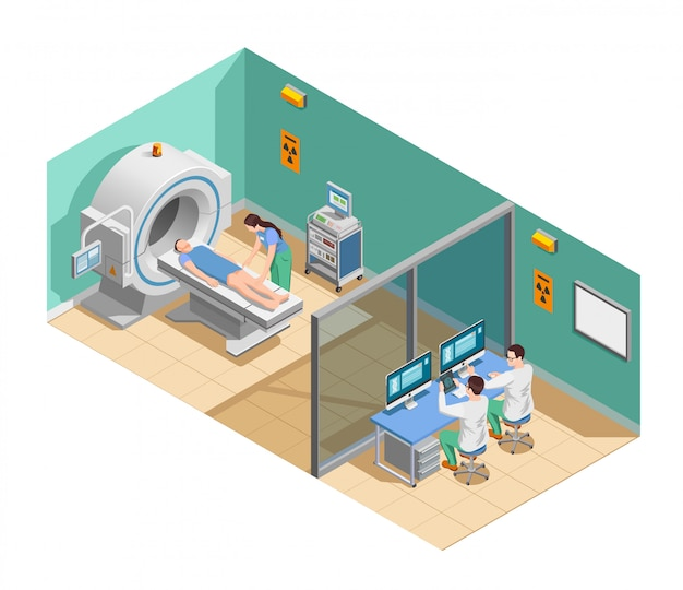 Composição isométrica de exame médico