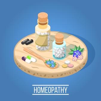 Composição isométrica de homeopatia