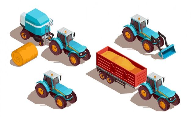 Composição isométrica de máquinas agrícolas