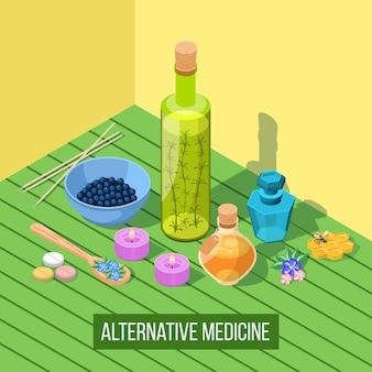 Composição isométrica de medicina alternativa