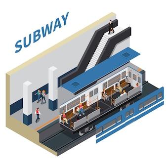 Composição isométrica de metrô