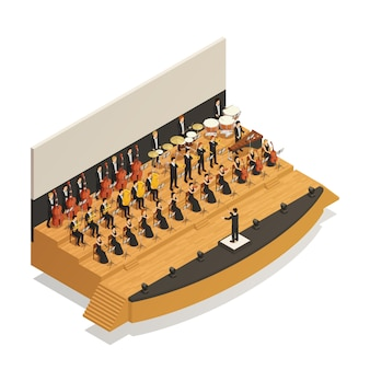 Composição isométrica de orquestra