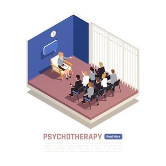 Composição isométrica de psicoterapia de grupo