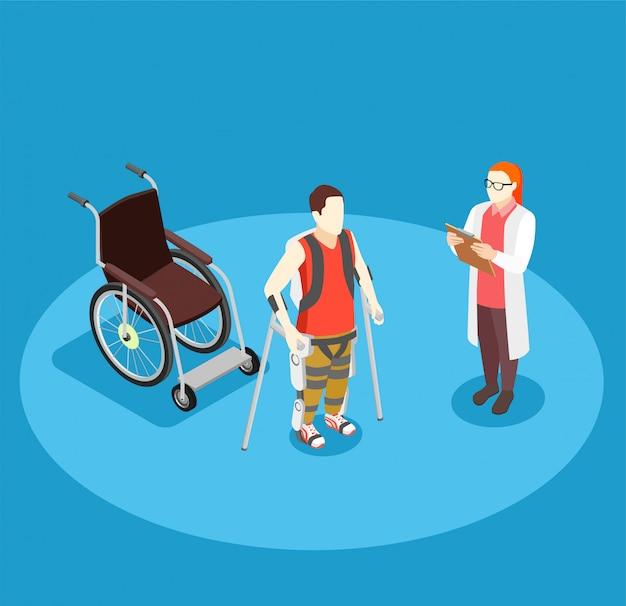 Composição isométrica de reabilitação médica