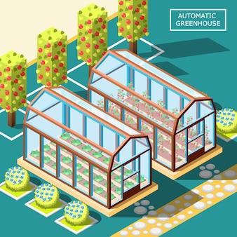 Composição isométrica de robôs agrícolas