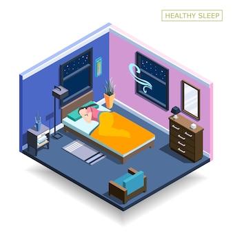 Composição isométrica de sono completo